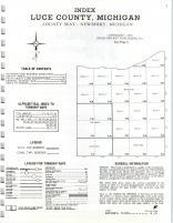 Index Map, Luce County 1973